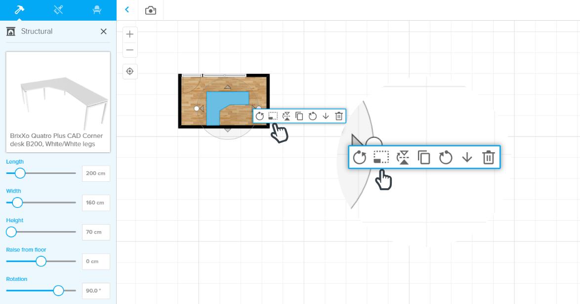 家具の調整方法1